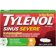 Tylenol Sinus Congestion And Pain Severe Caplets 24 Count Multicolor
