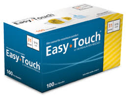 Easy Touch Pen Needle 31G 5/16 h 100Ct