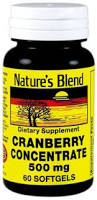 Cranberry Concentrate 500 mg 60 Sgels By Nature's Blend