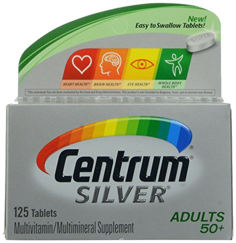 Centrum Silver Adults 50+ Multivitamin Supplement Tablets 125 Count