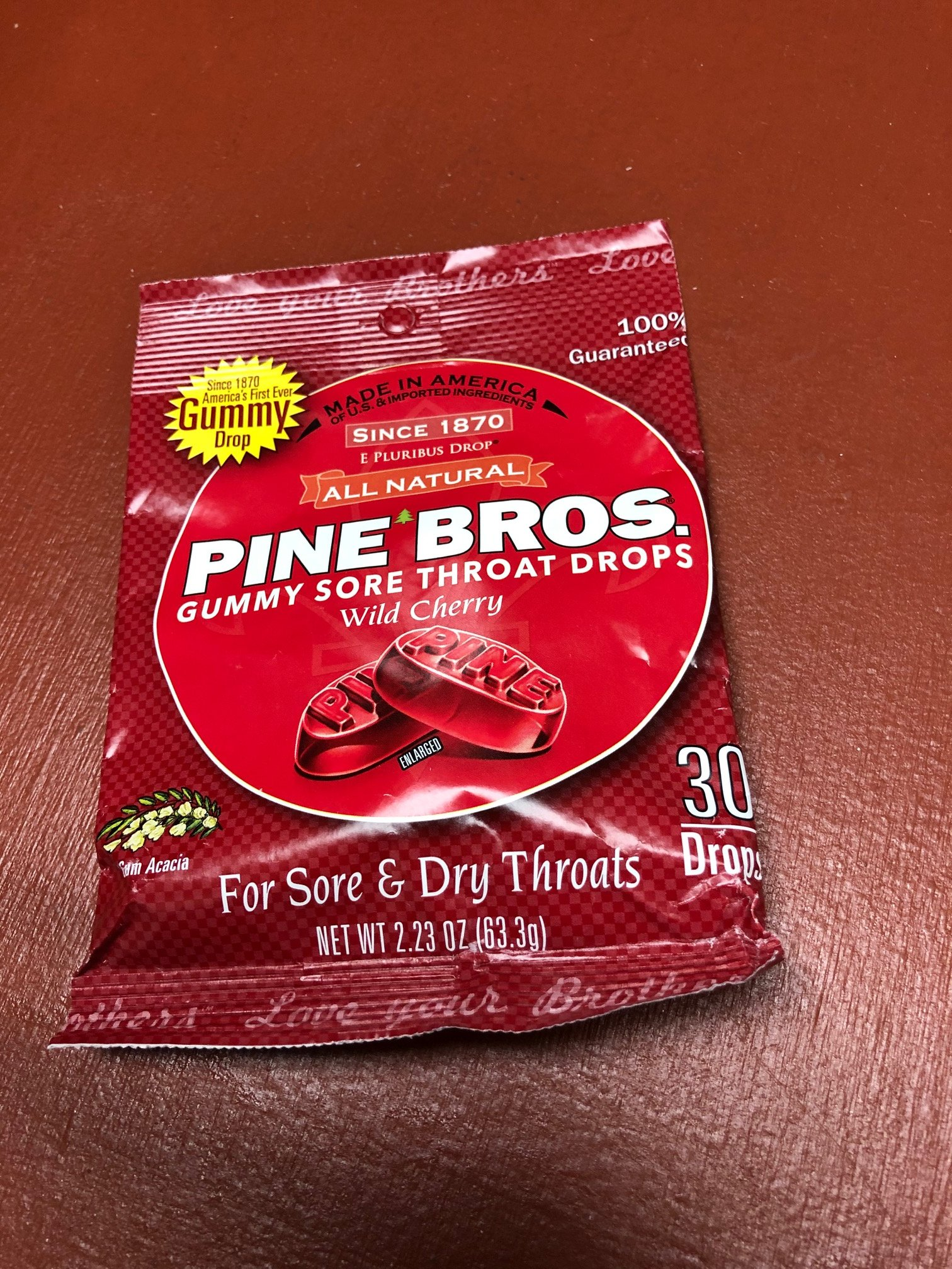 Image 0 of Pine Bros Throat Drop Bag Cherry 30Ct Case of  24