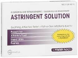 Astringent Solution Powder Packets 12 Pack/Box 1 Box Generic Domeboro By Tagi Ph