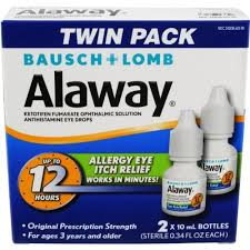 Alaway Allergy Eye Itch Relief Drops 2 pack, 0.34 fl oz bottles
