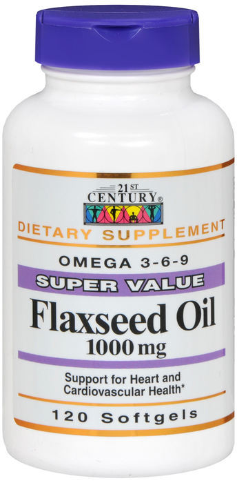 Flaxseed Oil 1000mg Gelcap 120 Count BY 21st Century