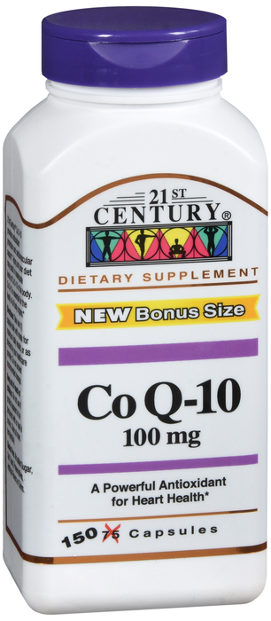 COQ10 100mg Capsule 150 Count 21st Cent By 21st Century Nutritional Prod/GNP