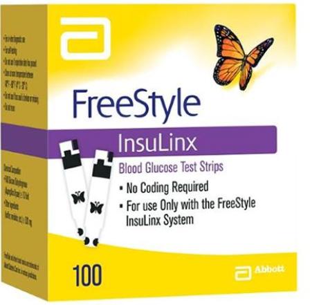 Freestyle Insulinx Test Strip 100Ct