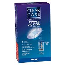 Clear Care Triple Action Cleaning & Disinfecting Solution Travel Pack - 3 Fl oz