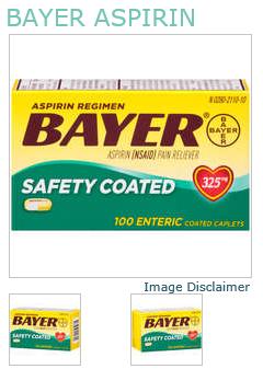 Bayer Aspirin Caplet 325mg 100Ct