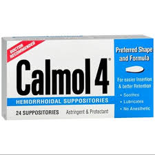 Calmol 4 Suppositories 24Ct
