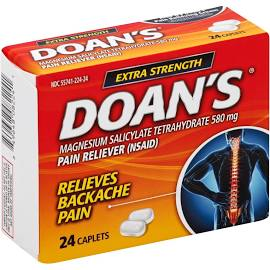 Case of 24-Doans Erxtra Strength Caplets 24Ct