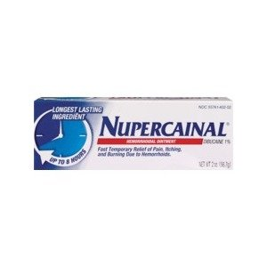 Nupercainal 1 % Ointment 2 oz By Emerson Healthcare LLC Item No.:4228924 NDC No.: 49648008402 UPC No.: 849648084023 Item Description: Hemorrhoidal Treatments Other Name:Nupercainal Therapeutic Code: 8