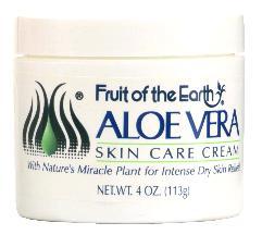 Aloe Vera Skin Care Cream 4 oz By Fruit Of The Earth