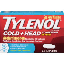 '.Tylenol Cold Head Congestion Severe Capl.'