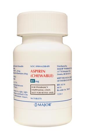 '.Aspirin 81 Mg Chewable tab 90 by Major P.'