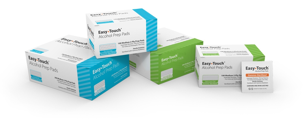 Easy Touch Alcohol Prep Pad 200 Count BY MHC MEDICAL One case of 50