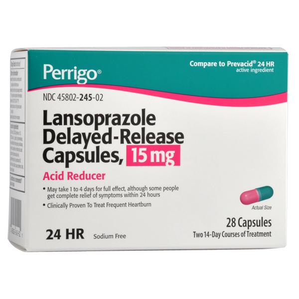 Lansoprazole 15 mg Cap 28
