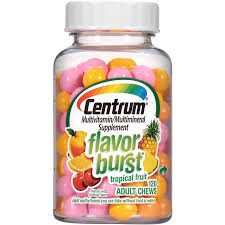 Centrum Adult Multivitamin Tropical Fruit Flavor Burst 120Ct
