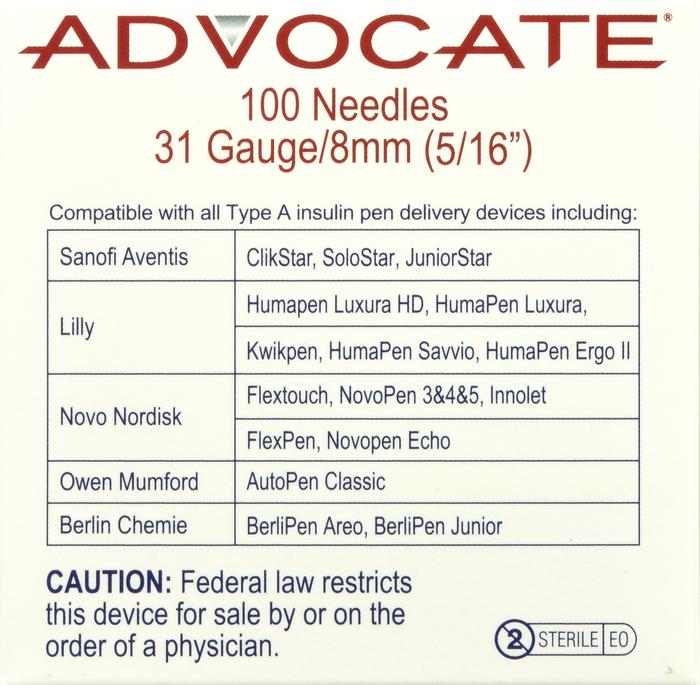 '.Advocate Pen Needle 31 Gx5/16 .'