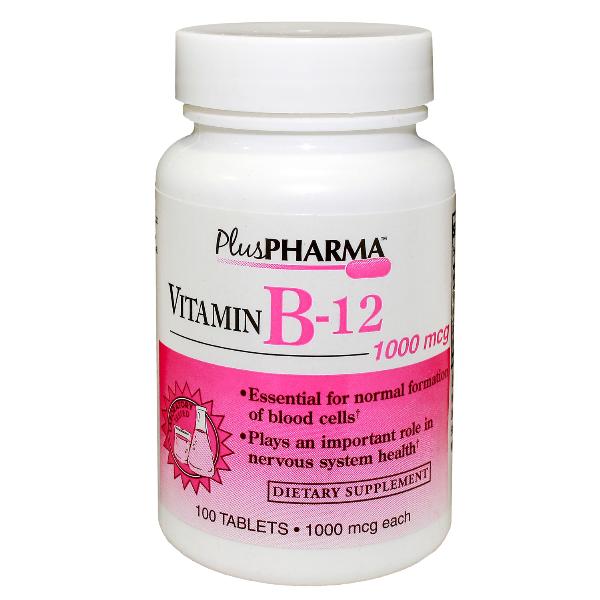 Vitamin B-12 1000 mcg Tab 100 By Plus Pharma(Gemini)