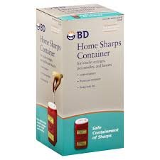 BD Sharps Container 323487 Home 1.4QT.