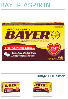 Bayer Aspirin 325mg Tablet 100Ct