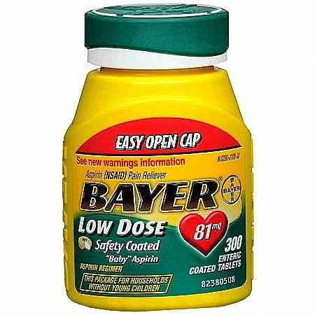 Bayer Aspirin Low Dose Regimen Tablet Enteric Coated 300 Count