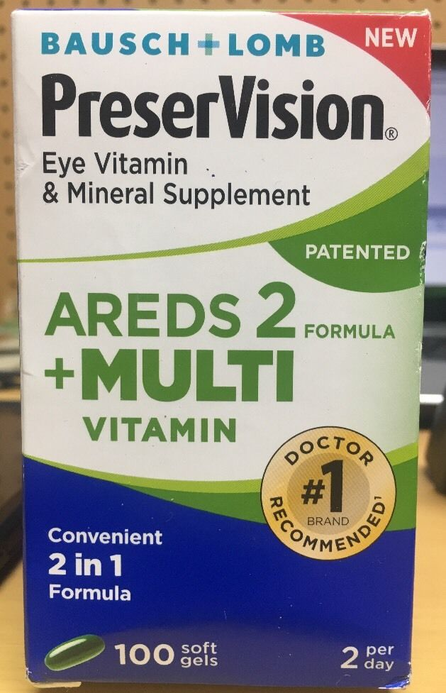 Preservision AREDS 2 + Multi Vitamin & Mineral Supplement, 100 Ct