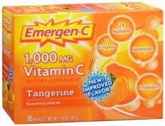 Emergen-C Vitamin C Dietary Supplement, 1000 mg, Tangerine - 30 count, 0.32 oz p