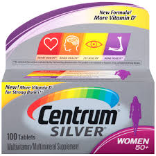Centrum Silver Women 50 Plus Multivitamin - 100 Tablets