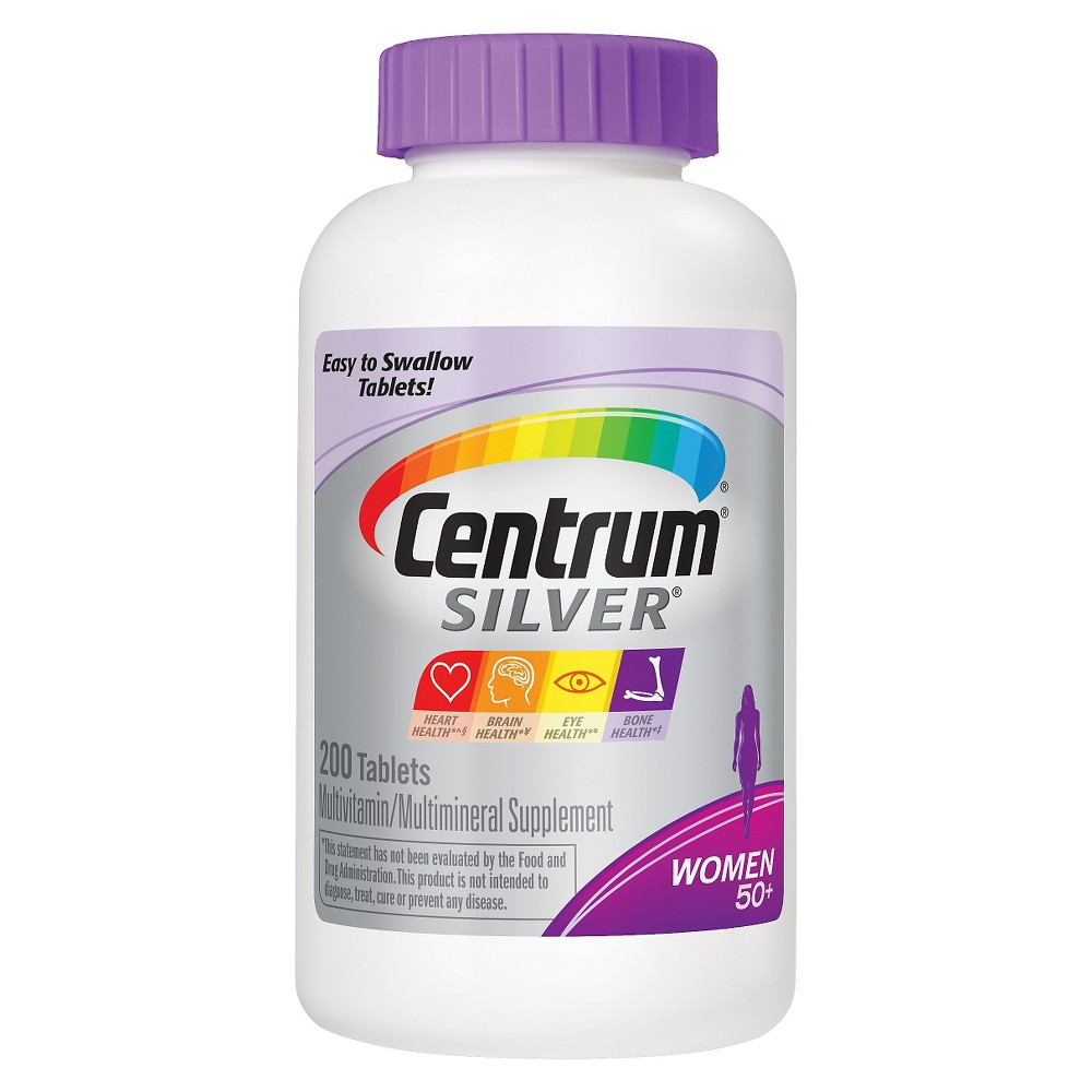 Centrum Silver Women 50+ Multivitamin Supplement Tablets 200 Count