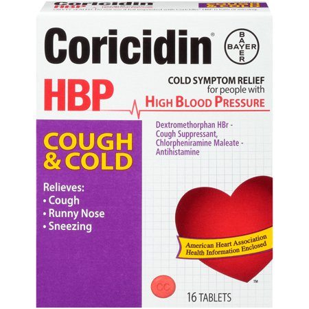 CORICIDIN HBP COUGH COLD TABLET 16CT By Bayer Corp/Cons Health