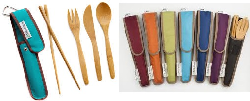 To-Go Ware Bamboo Utensil Set Agave 4 Pc