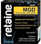 Retaine Mgd Completee Dry Eye Relief Lubricant Eye Drops 30 Count, 0.01 By Ocusoft . Item No.:4285686 NDC No.: 54799091730 UPC No.: 015718917304 Item Description: Dry Eye Relief Other Name:Retaine Mgd