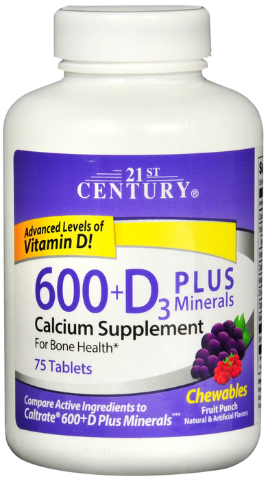 Calcium 600mg 75 By 21st Century Nutritional Prod/GNP