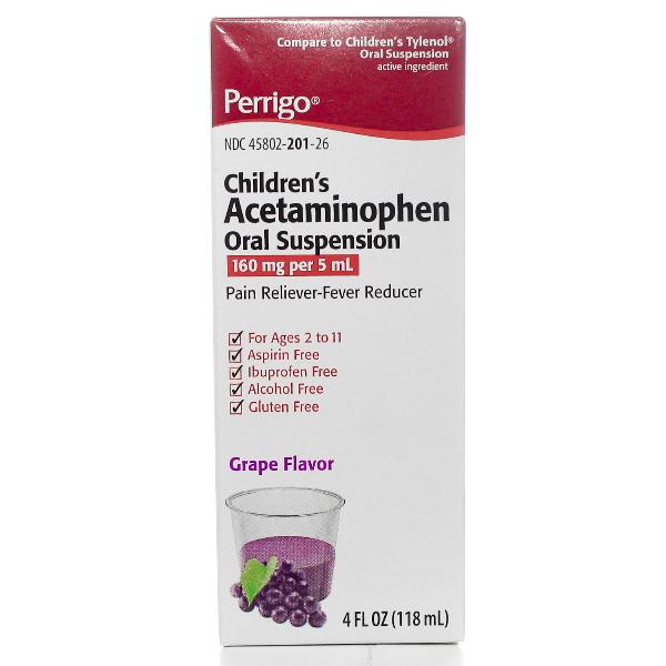Acetaminophen Child Grpe Oral Sus 118 ml By Perrigo