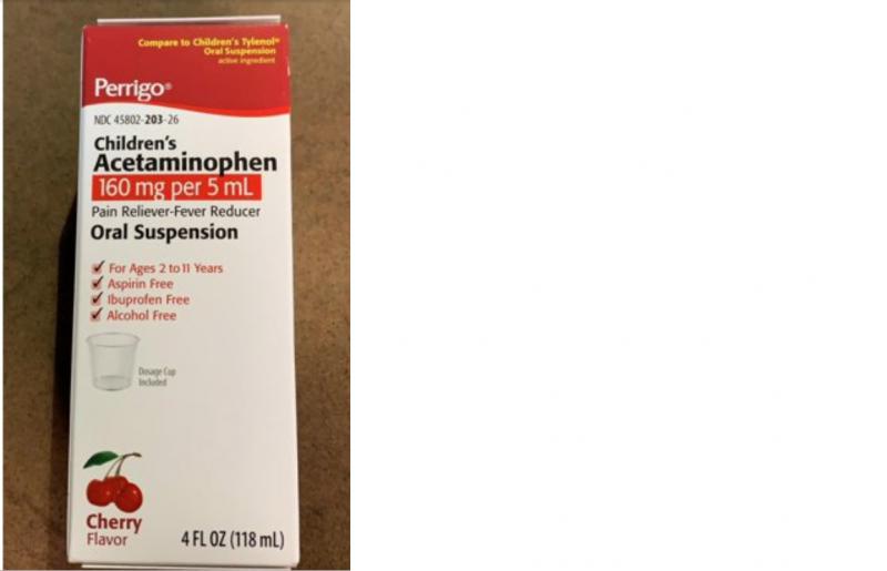 Acetaminophen Childrens Cherry Oral Suspension 118ml By Perrigo