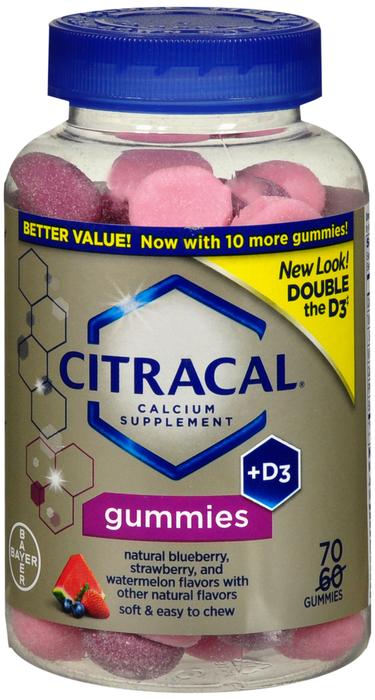 Citracal Calcium +D3 Suplmt Gummy 250 Mg-500 Chw 70