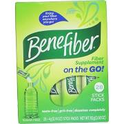 Benefiber Fiber Supplement Sugar Free On The Go! Stick Packs - 28 Pack 0.14