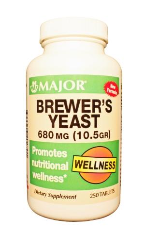 Brewers Yeast 680 Mg Tab 250 By Major Pharma