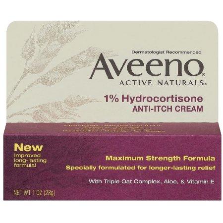 Aveeno Active Naturals 1% Hydrocortisone Anti-Itch Cream 1 oz