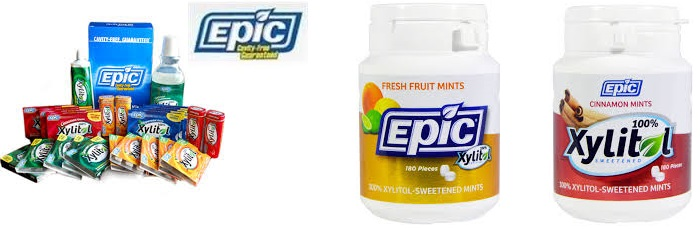 Epic Dental Gum Peppermint Xylitol Swtnd 50 Ct