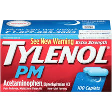 Tylenol Pm Extra Strength Caplets - 100 Count