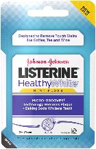 LISTERINE HEALTHY WHITE, Interdental Floss, Mint, 30 Yards