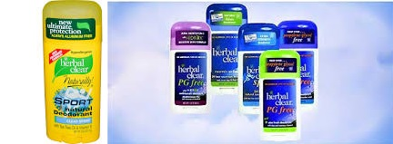 Herbal Clear Deod Stk Aloe Frsh Pg Fre 1.8 Oz