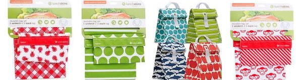 Lunchskins Snack Bag Green Stripe Ct