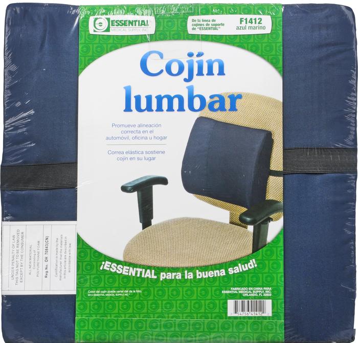 '.Lumbar Cushion With Strap Navy.'