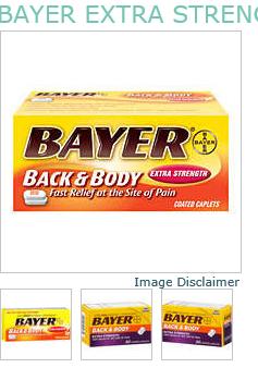 Bayer Aspirin Caplet Back Body 50Ct