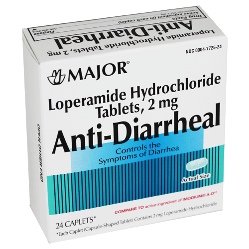 Anti-Diarrheal 2 mg Tab 24 By Major Pharma Gen Imodium Ad