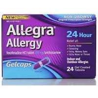 Allegra OTC 24Hr 180mg Gelcap 24 Count By Chattem Drug & Chem Co
