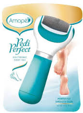 Amope Pedi Perfect Foot File, Electronic By Reckitt Benckiser Item No.:352005, OTC352005 NDC No.: UPC No.: 051400931975 Item Description: Implements Other Name:Amope Pedi Pr Therapeutic Code: Therapeu